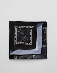Платок для нагрудного кармана с принтом пейсли ASOS - Черный