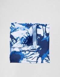 Платок для нагрудного кармана с синим принтом ASOS - Синий