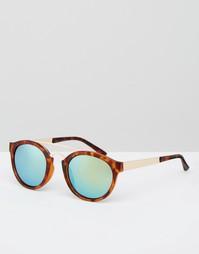 Круглые солнцезащитные очки с зеркальными стеклами AJ Morgan