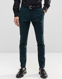 Суперузкие брюки стретч Selected Homme - Бутылочный зеленый