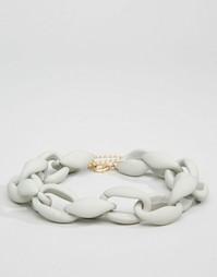 Ожерелье-чокер со звеньями ASOS - Серый