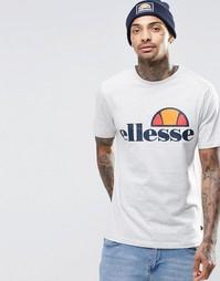 Футболка с крупным логотипом Ellesse - Oatmeal