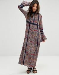 Платье макси с цветочным принтом Raga Desert - Мульти
