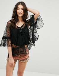 Raga Flower Bomb Sheer Lace Top - Черный