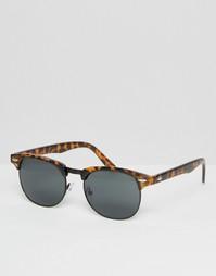 Солнцезащитные очки в стиле ретро с черными стеклами ASOS - Черный