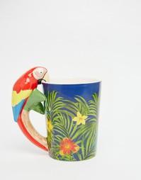 Кружка с дизайном попугая Sass & Belle - Мульти