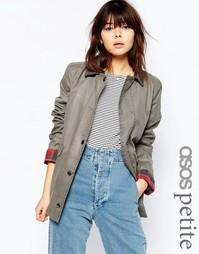 Вощеная куртка ASOS PETITE - Светло-серый