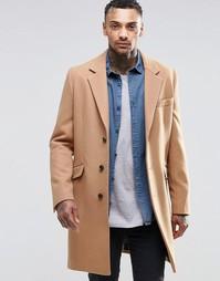 Шерстяное пальто ASOS - Кэмел
