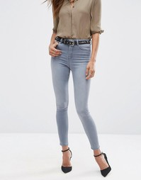 Серые джинсы скинни ASOS RIDLEY - Серовато-стальной