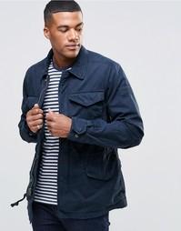 Темно-синее пальто с нагрудными карманами Abercrombie & Fitch
