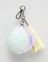 Подвеска-помпон с кисточкой на сумку Skinnydip - Мульти