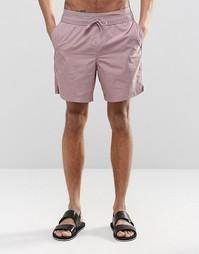Розовые шорты для плавания средней длины с двойным поясом ASOS