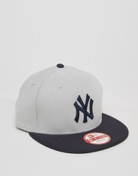 Бейсболка New Era 9 Fifty Diamond Era NY Yankees - Серый