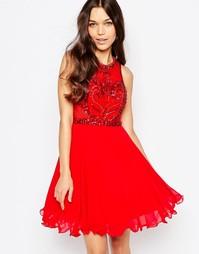 Короткое приталенное платье с вышивкой на лифе Forever Unique Charity