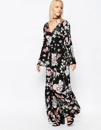 Платье макси с V-образным вырезом Glamorous