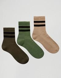 Набор из 3 пар спортивных носков ASOS - Мульти