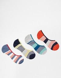 Комплект из 4 пар спортивных носков в полоску Jack & Jones - Мульти