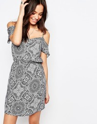 J.D.Y Off The Shoulder Paisley Print Dress - Черный JDY