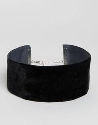 Бархатное ожерелье-чокер Missguided - Черный
