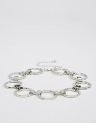 Ожерелье-чокер с кольцами ASOS - Серебряный