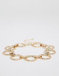 Ожерелье-чокер с кольцами ASOS - Золотой