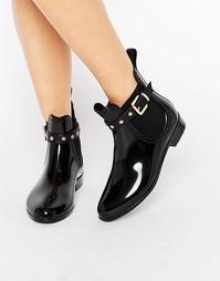Резиновые сапоги с заклепками Glamorous - Черный