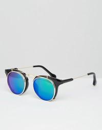 Круглые солнцезащитные очки с зелеными стеклами Jeepers Peepers