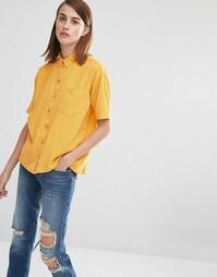 Рубашка с короткими рукавами Selected Nevia - Состаренный золотой