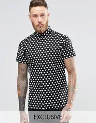 Рубашка с короткими рукавами и принтом сердечки Noose & Monkey