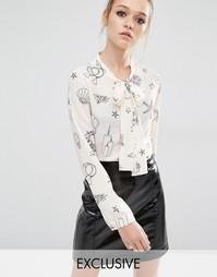 Блузка с завязкой на шее Sister Jane - Телесный