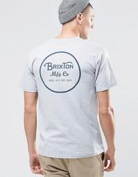 Футболка с логотипом сзади Brixton - Серый