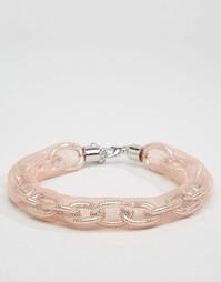 Ожерелье-чокер с цепочкой и сеткой ASOS - Родий