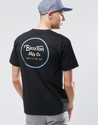 Футболка с логотипом сзади Brixton - Черный