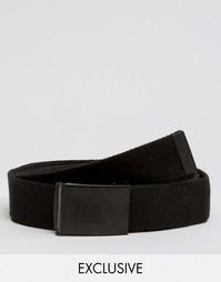 Черный плетеный ремень с пряжкой-клипсой Reclaimed Vintage - Черный