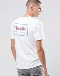 Футболка с логотипом сзади Brixton - Белый