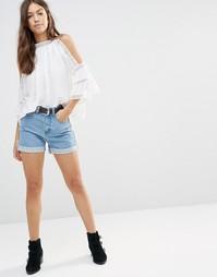 Винтажные шорты с отворотами Boohoo - Синий