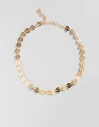 Ожерелье-чокер с дисками DesignB London - Золотой