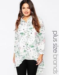 Рубашка с цветочным принтом и складками сзади Lovedrobe Plus - Белый