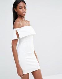 Облегающее платье мини с открытыми плечами Missguided - Белый