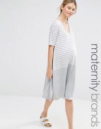 Цельнокройное платье для беременных Bluebelle Maternity - Серый
