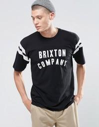 Университетская футболка с логотипом Brixton - Черный