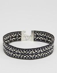Ожерелье-чокер с принтом DesignB London - Синий