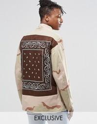Куртка в стиле милитари с платочным принтом на накладке сзади Reclaime Reclaimed Vintage