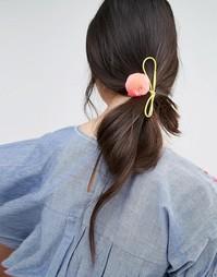 Резинка для волос с помпоном Orelia - Коралловый