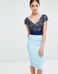 Платье-футляр с кружевным верхом Vesper