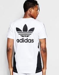 Футболка с принтом adidas Originals 'Bleached Out' B45874 - Белый