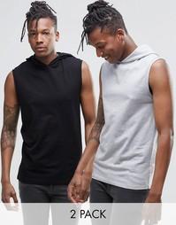 2 футболки без рукавов ASOS - СКИДКА 17%