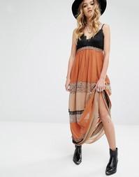 Платье макси с кружевными вставками Glamorous - Мульти