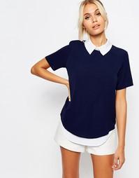 Рубашка 2 в 1 с короткими рукавами Fashion Union - Синий
