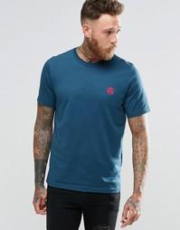Синяя футболка классического кроя с логотипом PS Paul Smith